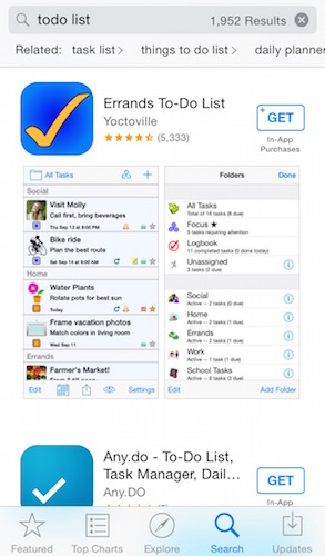 App Store Search Result