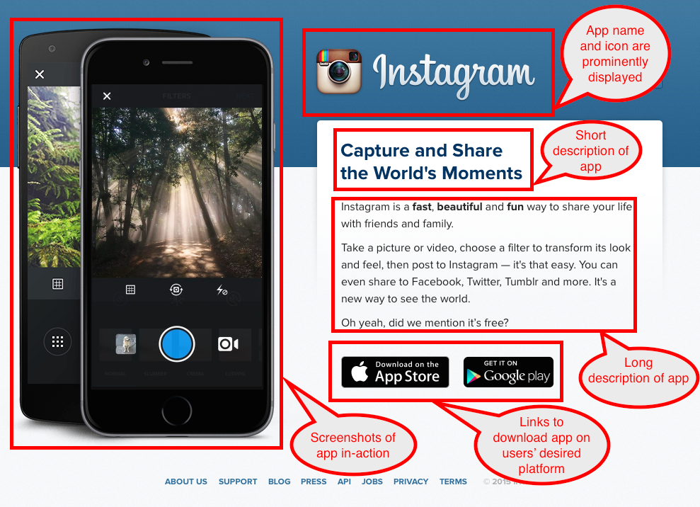 Instagram Landing Page