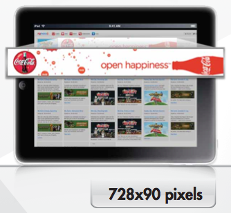 Tablet Ad Format 728x90