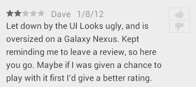 Android Ratings